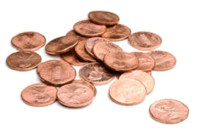 Picture of pennies